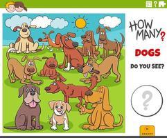 hur många hundar pedagogiska uppgift för barn vektor