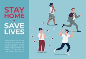 stanna hemma, rädda liv banner vektor