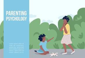 föräldrars psykologi banner vektor