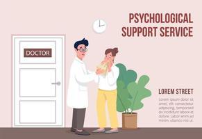 psykologisk supporttjänstbanner vektor
