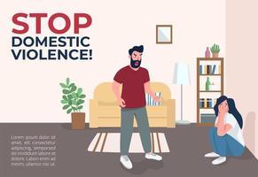 stoppa bannern för våld i hemmet vektor