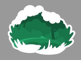 grünes wildes Waldabzeichen vektor