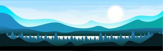 morgon i skogsmark vektor