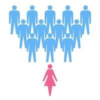 konzeptionelles Schema für Männer und Frauen