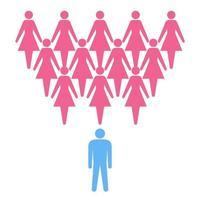 Konzeptionelles Schema für Frauen und Männer