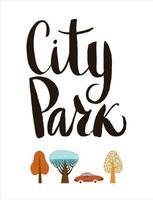 stadspark bokstäver vektor