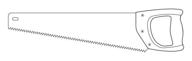 Handsäge Holzbearbeitungsinstrument Symbol.