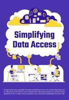 Vereinfachung des Datenzugriffsplakats