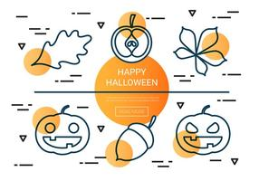 Kostenlose lineare Halloween-Vektor-Icons