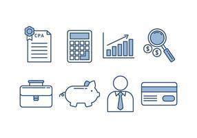 Kostenlose Buchhaltungs-Vektor-Icons vektor