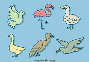 Handdragen fågel samling vektor