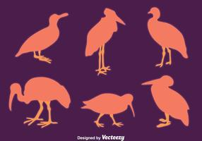Schöne Silhouette Bird Collection Vector