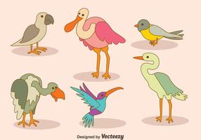 Cartoon-Vogel-Sammlung-Vektor vektor