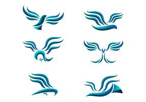 Abstrakter Bussard-Logo-Vektor