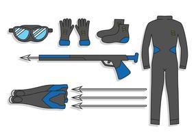 Speerfischen Vektor-Set