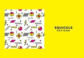 Squiggle-Muster freien Vektor