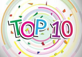 Topp 10 designvektor vektor