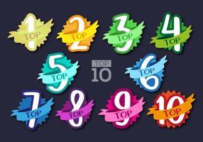 Top 10 Set Etikettenvektor vektor
