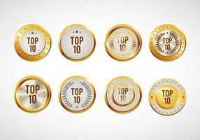 Top 10 Abzeichen Vektor