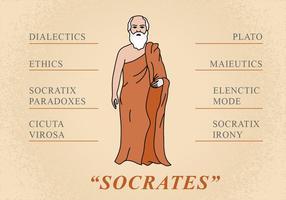 Flat Sokrates Figur vektor