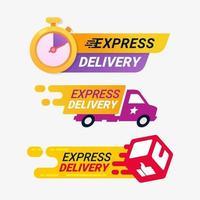 Express-Lieferservice-Ausweise vektor