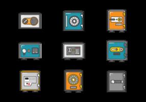 Strongbox Icons Vektor