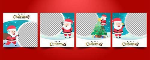 Setze Social Media Post für Weihnachtsverkäufe vektor