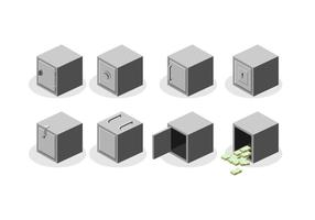 Isometric Metal Strongbox Kostenloser Vektor