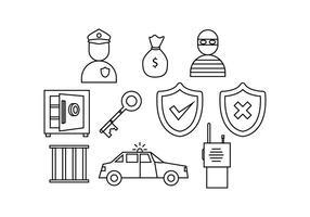 Kostenlose Security Line Icon Vector