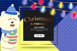 jul banner super försäljning upp till 60 procent mall