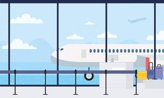 flygplats lounge bakgrund vektor
