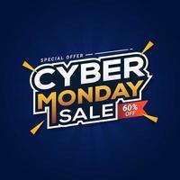 cyber måndag försäljning banner mall vektor