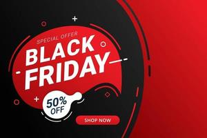 svart fredag försäljning banner mall vektor