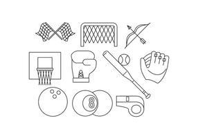 Kostenlose Sport Line Icon Vector