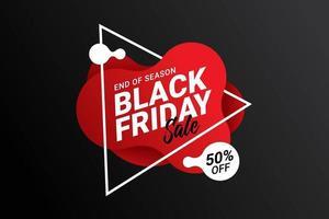 schwarze Freitag Verkauf Banner Vorlage