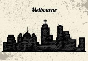 silhuett av melbourne city vektor