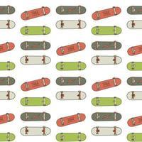 skatebord sömlösa mönster vektor