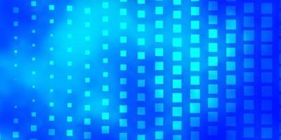 blauer Hintergrund mit Rechtecken.