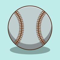 niedlicher Baseball-Cartoon mit Schatten vektor