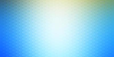 hellblauer, gelber Hintergrund mit Rechtecken.