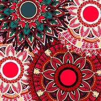 färgglad boho stil blomma mandala bakgrund vektor