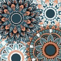 bunter Blumenmandalahintergrund der Boho-Art