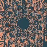 Grunge-Stil Blumenmandala Hintergrund