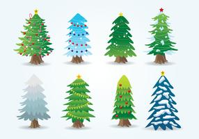 Gratis tecknad julgran vektor