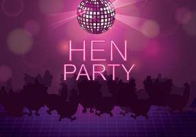 Kostenlose Hen Party Illustration
