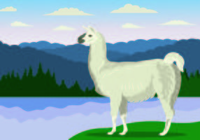 Vektor-Illustration von Llama vektor