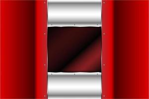 metallische rote und silberne Paneele