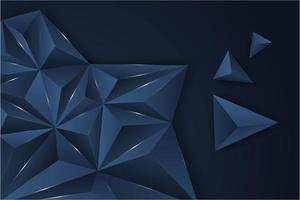blauer metallischer Dreieckhintergrund.