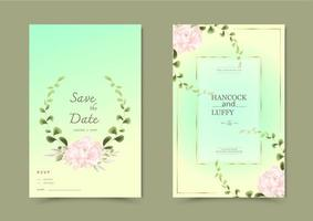 Blumenhochzeitseinladungskarte.