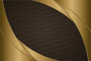 Metallic Gold gebogene Paneele mit Kohlefaser Textur